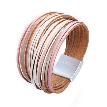 Bracelet en lanières de cuir porte-bonheur
