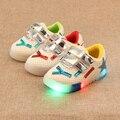 Zapatos de los niños Con La Luz Zapatos de Los Niños de Nueva Otoño Invierno Led EU21-25 de Chicas Zapatillas de Deporte Respirables de Los Muchachos Zapatos Chaussure Enfant Led
