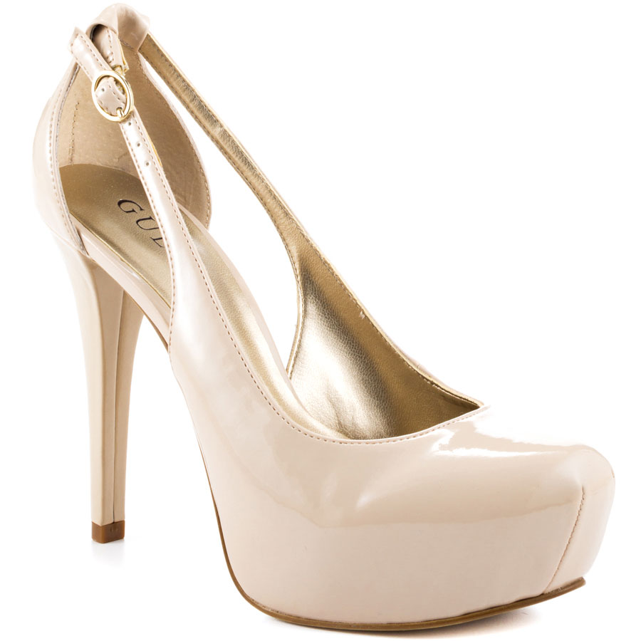 Nude Fashion Round Toe Platform Women Pumps Buckle Hollow Out Side Thin High Heels Stilettos Ladies