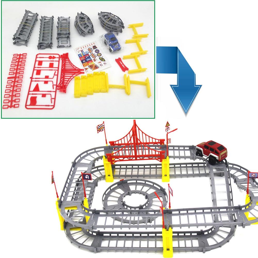Magisk Järnvägsväg Spårleksaker DIY Variety Elektrisk Hastighet - Bilar och fordon - Foto 6