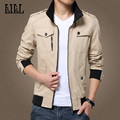 LILL | Cotton Jacket Coat Men Slim Motorcycle Bomber Jacket 2017 Spring Khaki Male Casual Jackets Style Veste Windcheater,UMA405