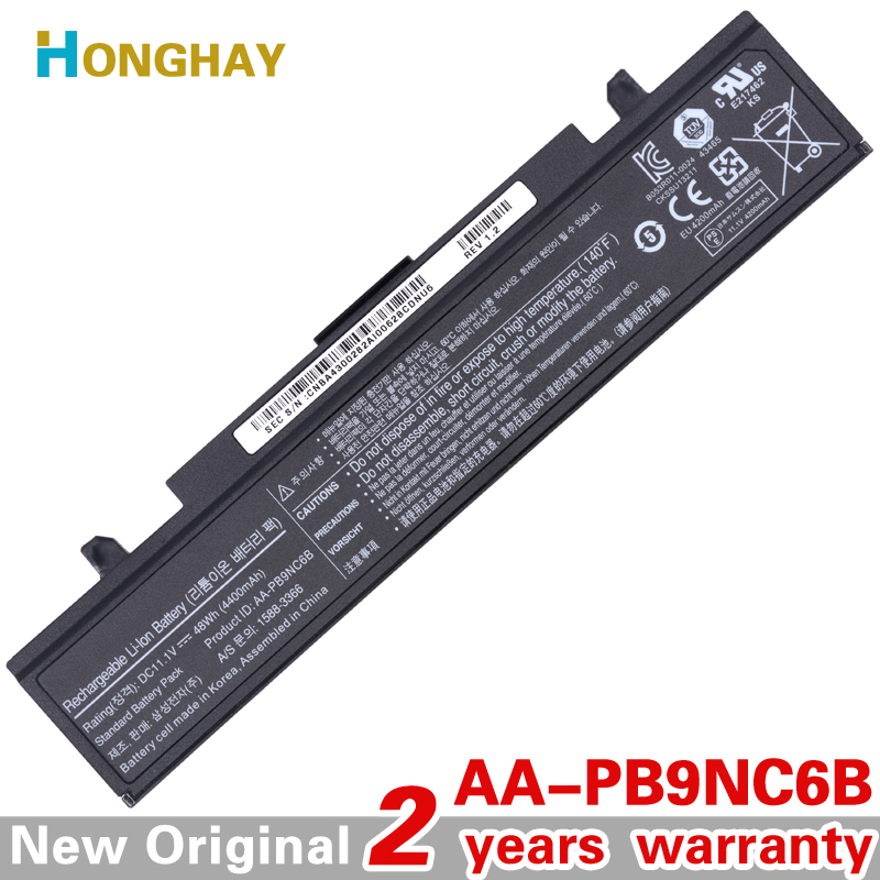 HONGHAY AA-PB9NC6B Laptop Battery For Samsung PB9NS6B PB9NC6B R580 Q460 R468 R525 R429 300e4a RV511 R528 RV420 RV508 355v5c for sony vpceh35yc b vpceh35yc p vpceh35yc w laptop keyboard
