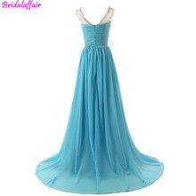 Luxury Fashion Sexy V-Neck New Evening Dress 2019 A-Line Diamond Beading Chiffon Dresses Sleeveless Prom