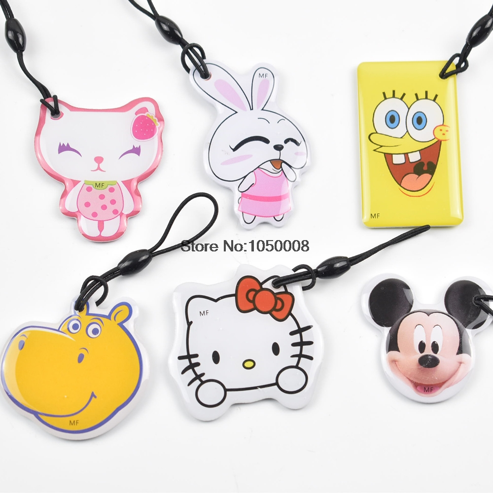 6pcs/lot UID Changeable Card Small Pendant NFC Keychain 13.56MHz ISO14443A Block 0 Writable MF1 1K S50