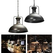 1 Uds. Lámpara de techo vintage retro industrial cafe lámpara de techo Pantalla de techo color: negro óxido