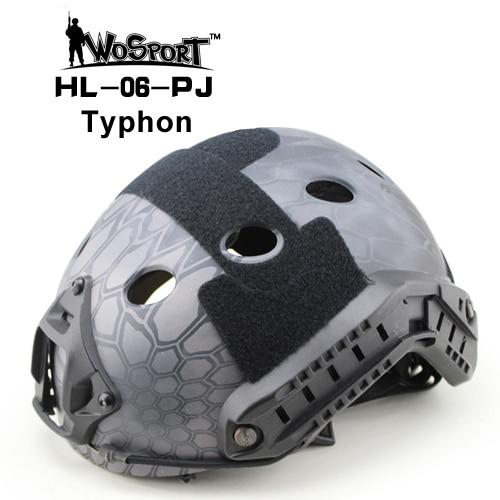 WoSporT тактические ABS пластик Регулируемый защитный быстро шлем PJ Тип для страйкбола пейнтбола Военная Охота CS военная игра