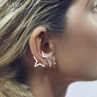 New fashion jewelry Hiphop  punk star clip stud gift for women girl E2660