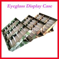 Free Shipping 18C Camo sunglasses display case eyeglass display box suitcase for holding 18pcs of sunglasses
