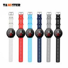TAMISTER accessoires intelligents pour Amazfit Stratos 2S bracelet 22mm bande pour Xiaomi montre 1 2 Amazfit Pace couleur Pure bande de remplacement