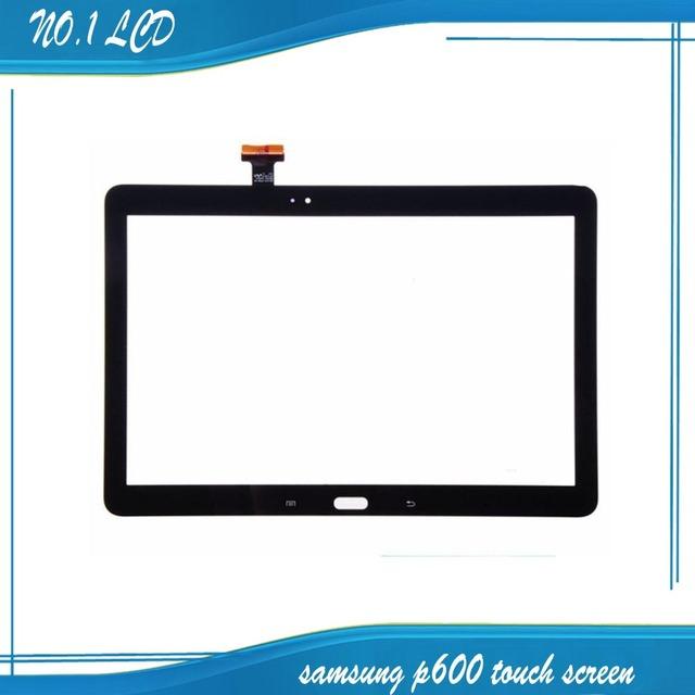 Para samsung galaxy note 10.1 sm-p600 p600 p605 2014 edição preto painel touch screen digitador lente de vidro repair replacement