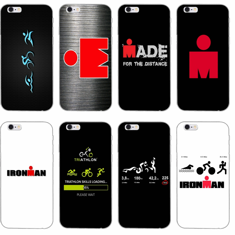 Ironman Triathlon Logo Silicone TPU Soft phone case For Apple iPhone 4 4s 5 5s 5c SE 6 6s plus 7 7plus 8 8plus X