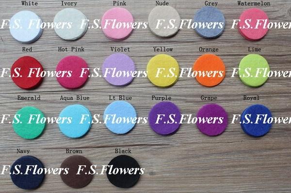 "Free USA ePacket/CPAP 1000pcs 1.5""/4cm die cut round felt circles for kids headband flowers DIY craft supplies flower appliques"