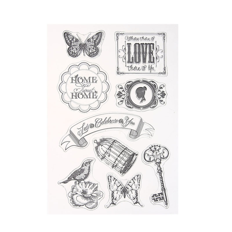 18 Styles Transparent Clear Stamp DIY Silicone Seals Scrapbooking Card Children Toys Handmade Cards Decoration Stamp lovely animals and ballon design transparent clear silicone stamp for diy scrapbooking photo album clear stamp cl 278