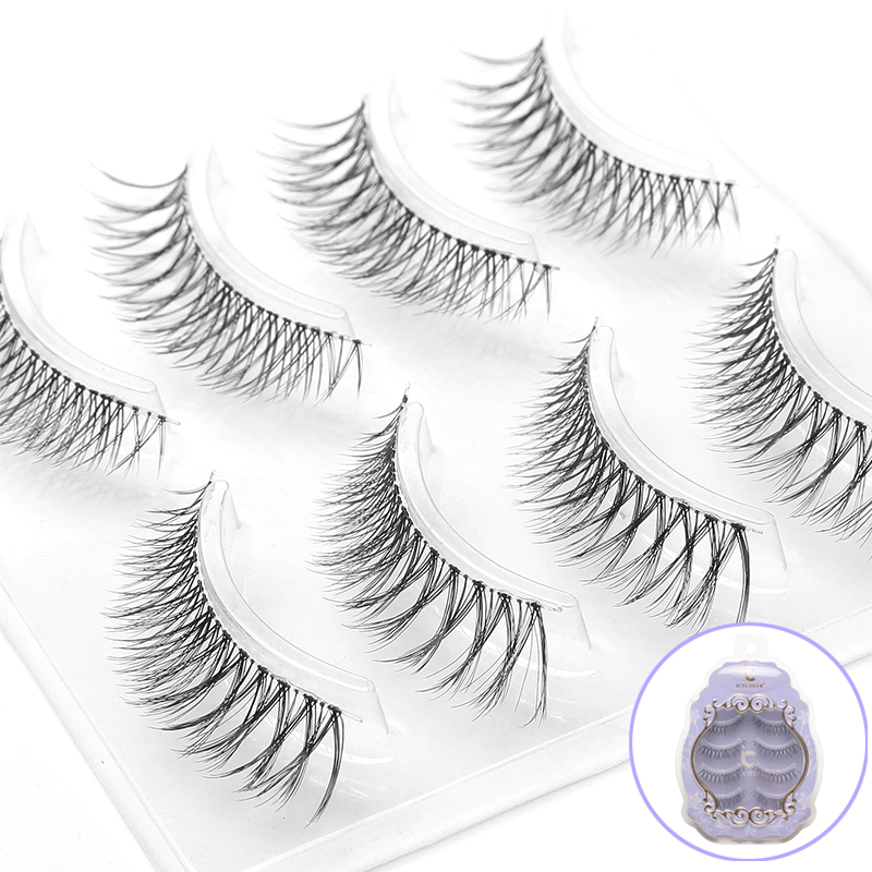Image 4 - ICYCHEER Japanese Natural Style False Eyelashes Makeup Ultra Light Air Lashes Extension Handmade Soft Upper and Lower Eyelashes-in False Eyelashes from Beauty & Health