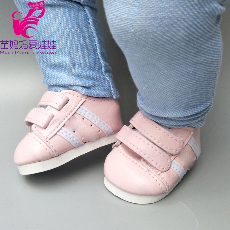 7cm Doll Shoes For 17inch Born Baby Dolls Shoes Sneackers Fit For 18 Inch Doll Shoes Toy Boots Drop Shipping