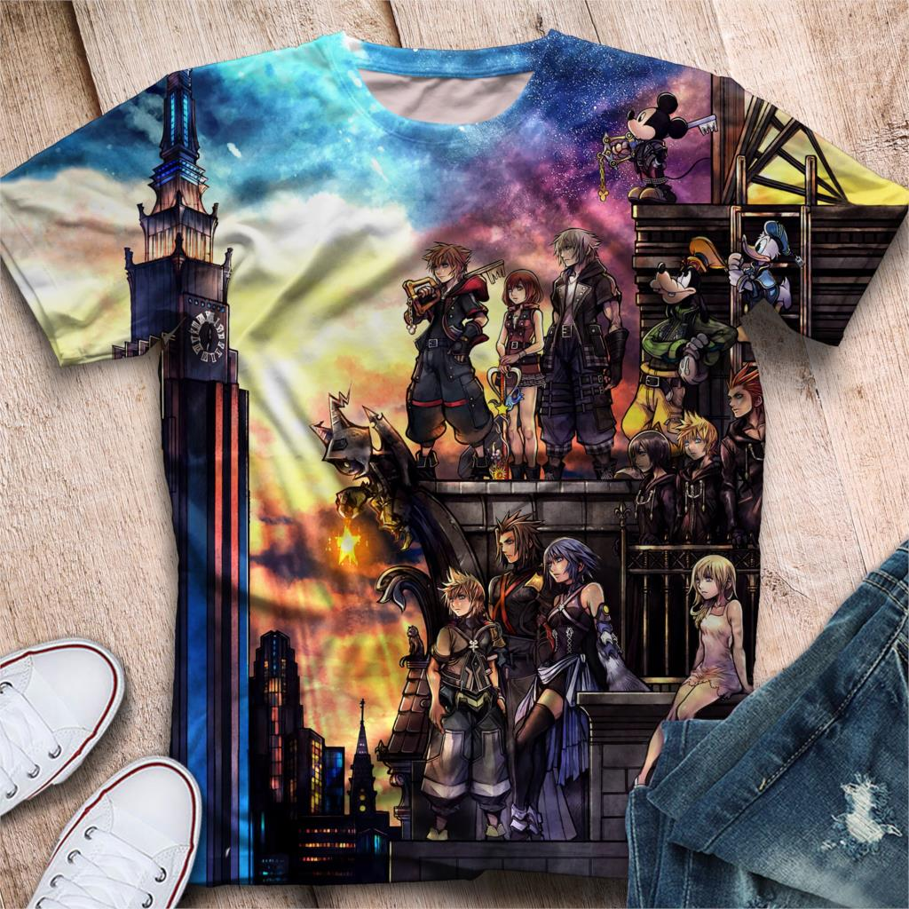 TJ Garment 2019 3D Kingdom Heart tshirt Men/Women Summer Harajuku   T  -  shirt   Sweatshirts Hot Games Kingdom Heart 3D   T     shirt
