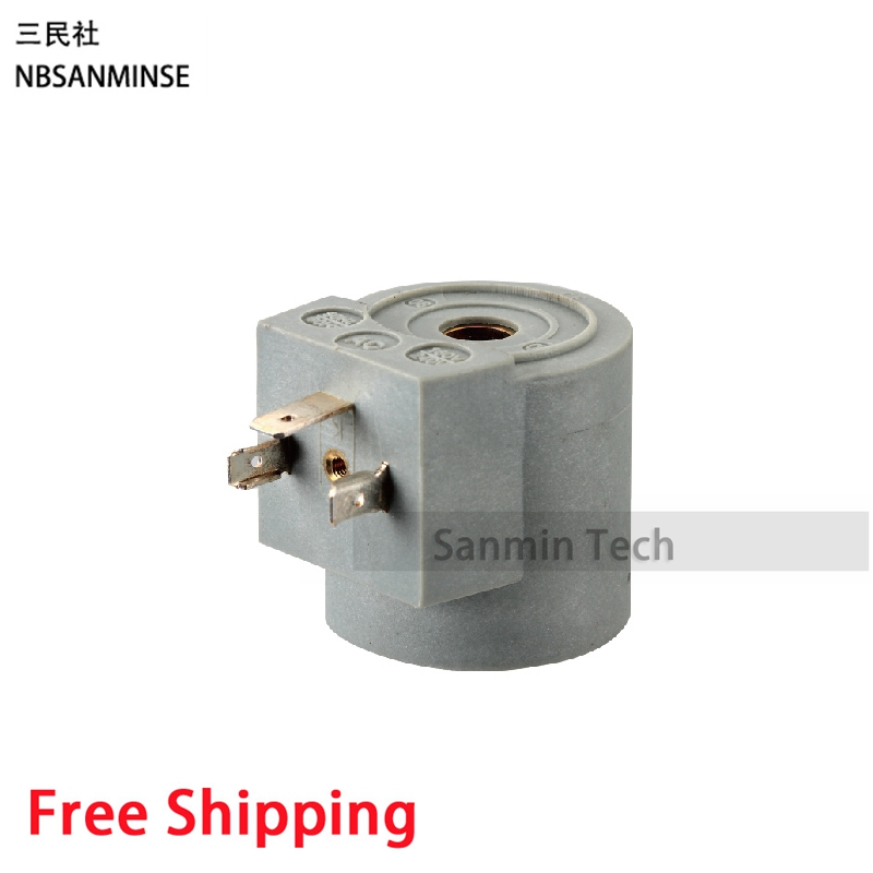 YED123 - 1 Pneumatic Air Pulse Valve Solenoid Valve Coil DC12V DC24V AC110V AC220V DIN43650A Connection Type Sanmin Valve Coil