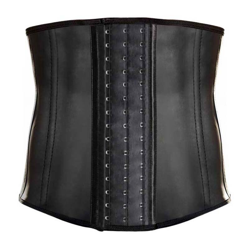 Latex Men Corset Waist Trainer 9 steel Boned Hot Body Shaper Waist Cincher Corset Belt Girdle Men Amincissante Ventre Plat Homme plus size women in leather