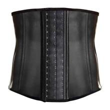 اللاتكس الرجال مشد مدرب خصر 9 الصلب الجوفاء محدد شكل الجسم مشد للخصر مشد حزام حزام الرجال ملابس داخلية الرجال فقدان الوزن حزام