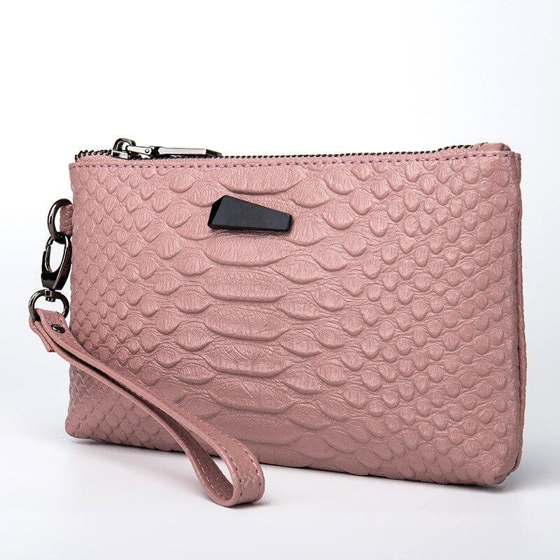 621598a72 Andralyn Nuevo 2018 cuero genuino día embragues cocodrilo patrón teléfono  móvil bolsa para mujeres señoras embrague cartera bolsa de muñeca
