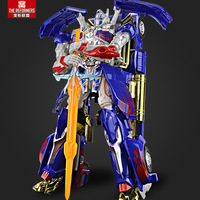 35CM Car Robot Optimus Prime Model Toy Movie Car Men Big Truck Plastic Alloy Deformation Assembled Cars Boy Kids Gift