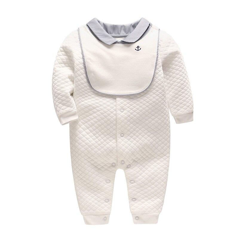 Vlinder Baby Clothes Baby Romper Newborn Baby Clothes Snug Cotton Long Sleeves Baby Jumpsuit Infant Jumpsuit Bib 2pcs Set
