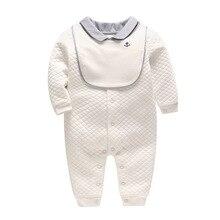 Vlinder/одежда для малышей; Детский комбинезон; Одежда для новорожденных; плотный хлопковый Детский комбинезон для младенцев с длинными рукавами; комбинезон; комплект из 2 предметов