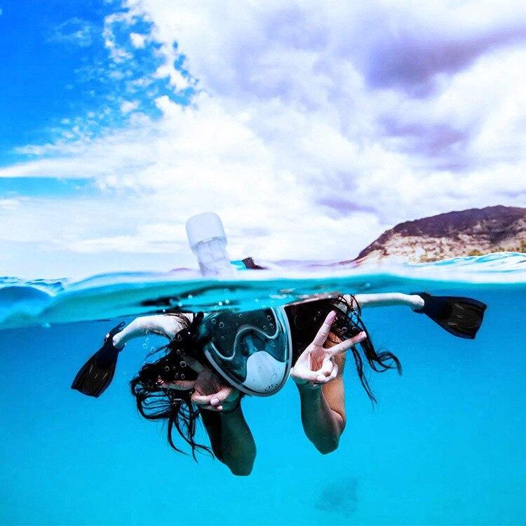 Plein Visage Plongée En Apnée Masques Vue Panoramique Anti-brouillard Anti-Fuite De Natation Tuba Plongée Sous-Marine Masque de Plongée GoPro Compatible