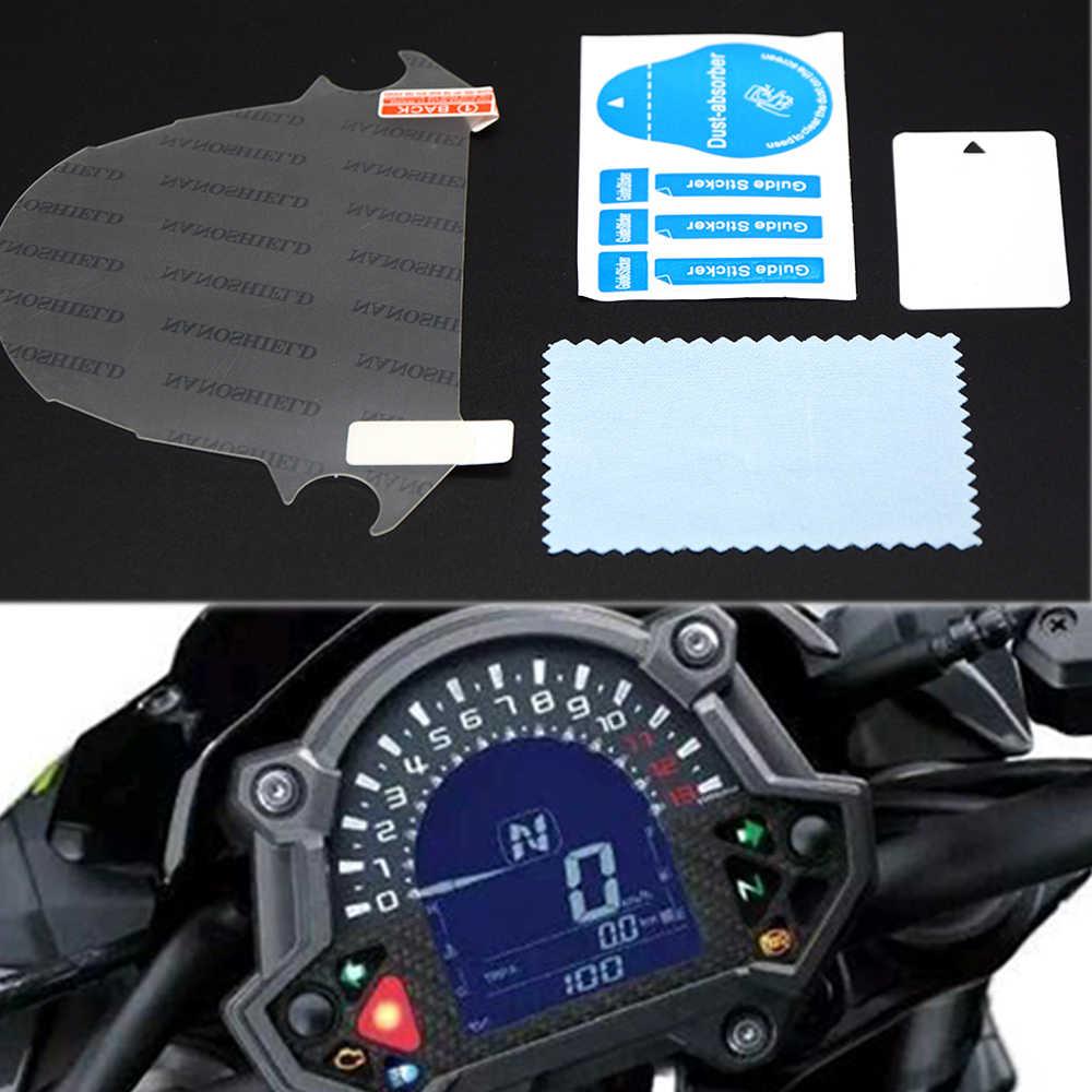 دراجة نارية دراجة نارية لوحة العنقودية خدش طبقة حماية واقي للشاشة ملصقات لكاواساكي Z900 Z650 Z 900 Z 650 2017