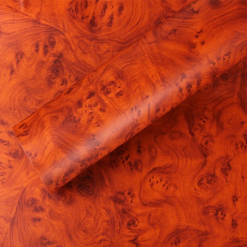 Car Rooms Interier Furniture Decorating Film Wood Textured Grain Vinyl Wrap Sticker Decals 0.3x1.24m-W1303