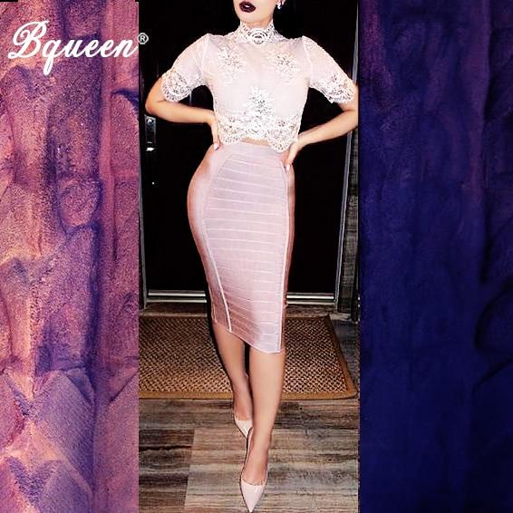 Bqueen 2017 New Women Bandage skirt ელასტიური ზოლი ოფიციალური Bodycon skirt საბითუმო