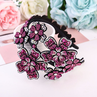 Sweet Girl Rhinestone Flowers Hairhands Fashion Women Full Diamond Headdress Butterfly Hair Accessories Creativity Festival Gift