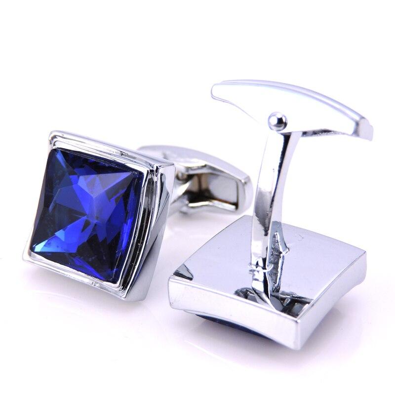 C-MAN luksoze me këmishë bluzë kristal blu për mens Butonat e - Bizhuteri të modës - Foto 2