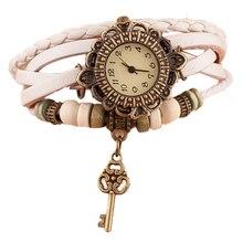 OTOKY 2017 достоинства Для женщин кварцевые часы ткань вокруг кожа ключ браслет леди женские наручные часы reloj montre Apr21