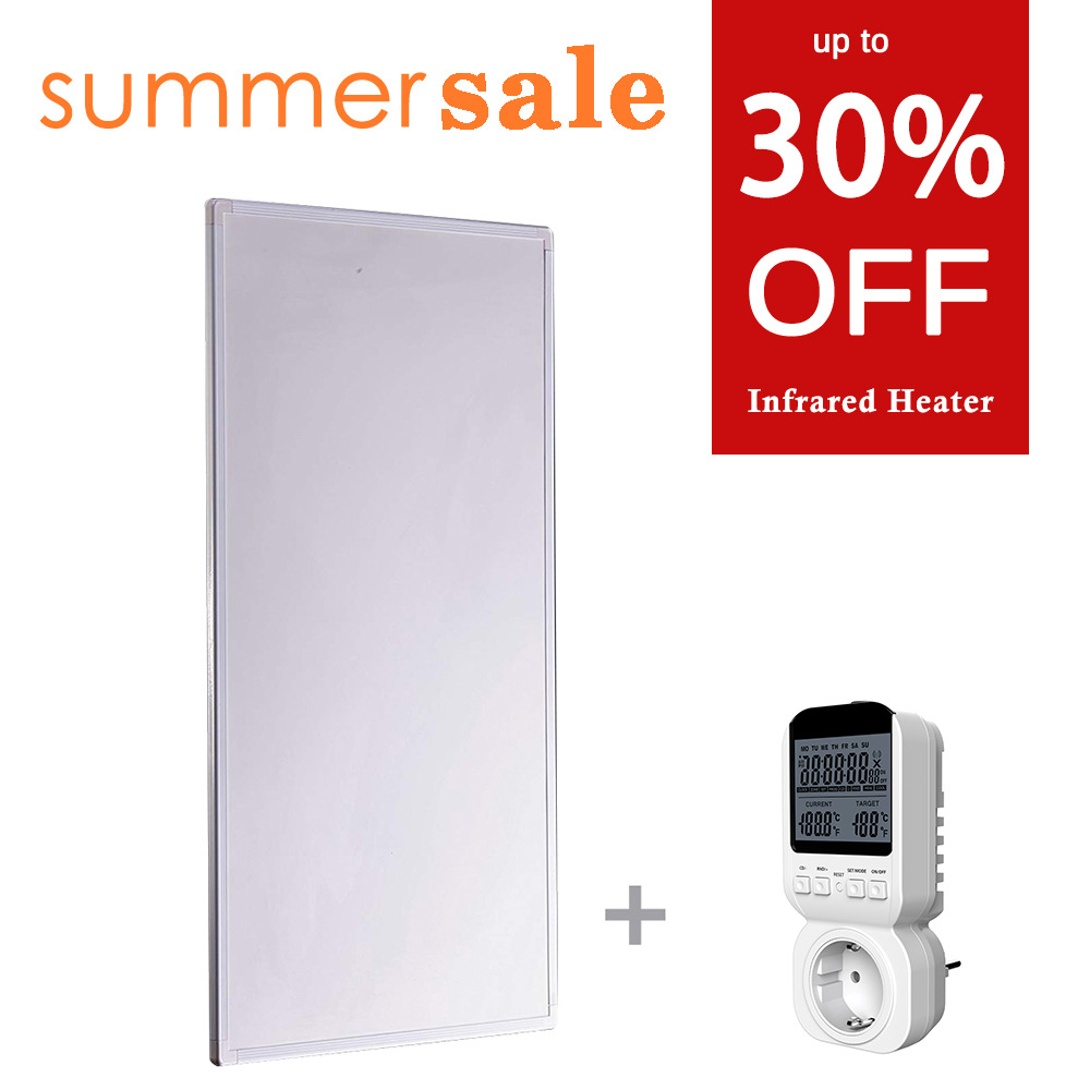 600W Infrared Panel Heater with Thermostat Energy Saving Summer Sale