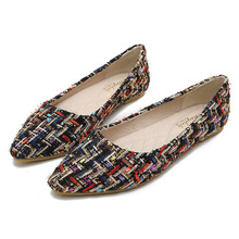 Luxury 2019 Women Shoes Flats Pointed Fashion Ballet Flats Mixed Colors Slip-On Retro Shoes Woman Plus Size 33-43 High Quality цены онлайн