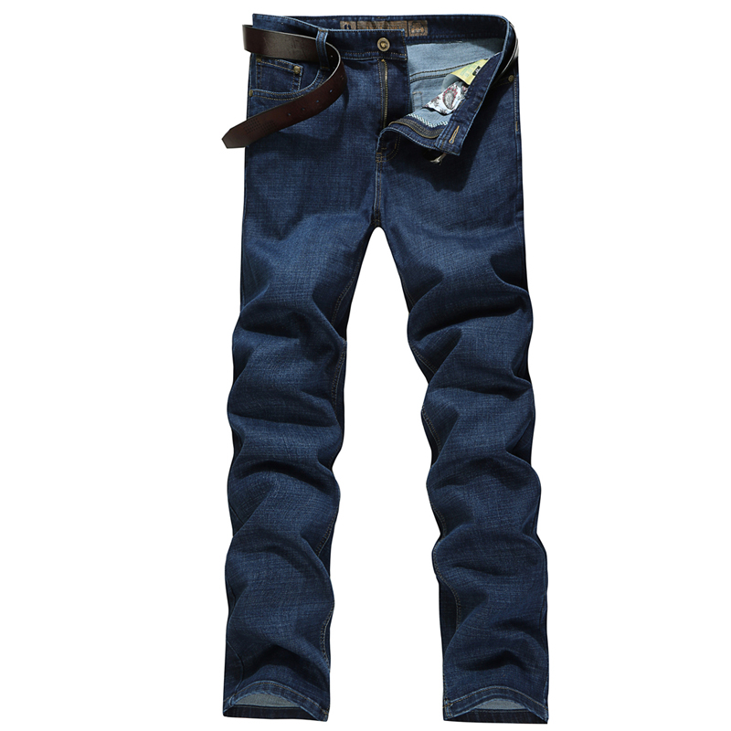 Plus Size 30~44 Men's Casual Business Straight Jeans Pants Fashion Cotton Zipper Brand-Clothing Denim Autumn Winter Soft Hot New sulee brand 2017 new fashion business men jeans cotton denim jeans casual straight washed pants stretch jeans plus size 28 40