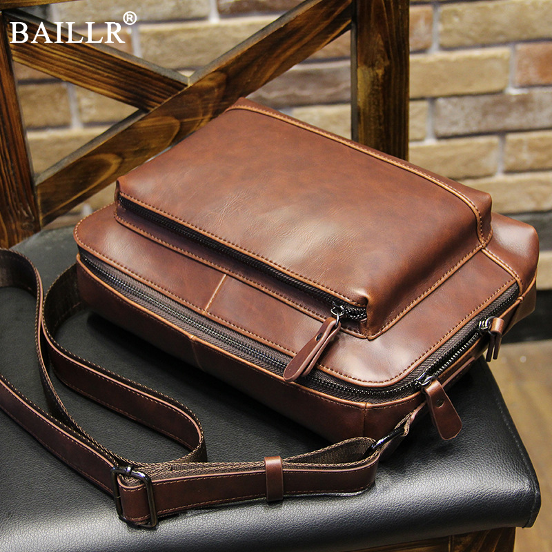 лучшая цена 2018 Lastest Vintage PU Leather Messenger Bags men's Shoulder Bag Men Crossbody Bag Male Sling Leisure Bag Tote Handbag Brown