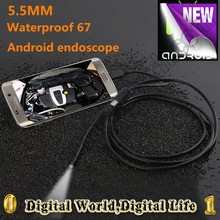 5.5mm Dia 1/1.5/2/3.5/5m Length Micro USB Android phone mini endoscope camera IP67 waterproof 1.3MP 6 LED Android phone