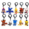 "Hot!!! Original FNAF Key Chain Five Nights At Freddy 3"" Figure Hangers Collector Clip Set Of 10 Toys Wholesale free shipping"
