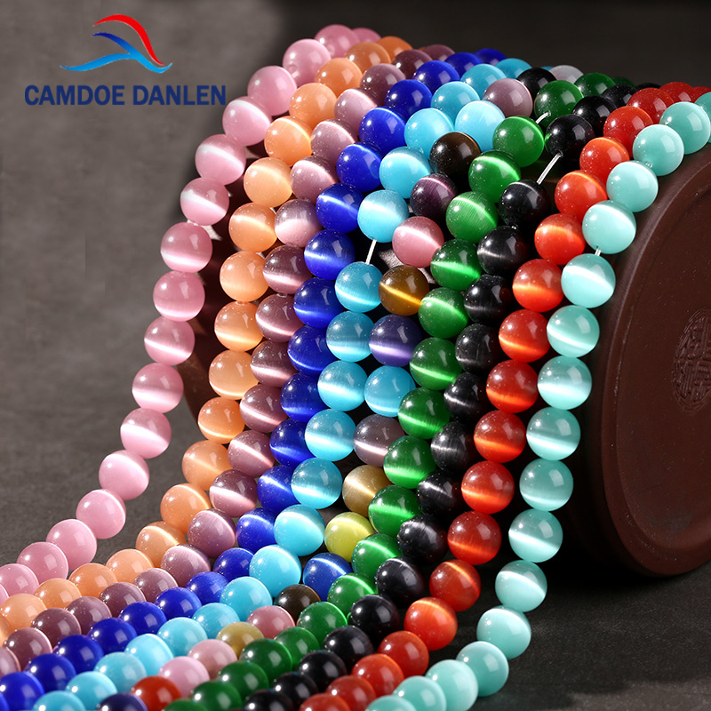 Cat-Eye-Beads Jewelry Glass-String Making-Bracelet Opal Natural Quality for DIY Loose