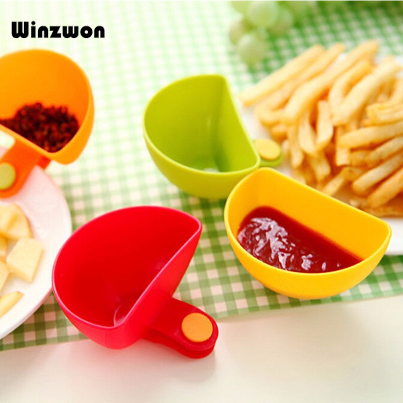 1Pcs Dip Clips Kitchen Bowl kit Tool Dish Spice Clip For Tomato Sauce Salt Vinegar Sugar Flavor Spices Holder Kitchen Spice Tool image