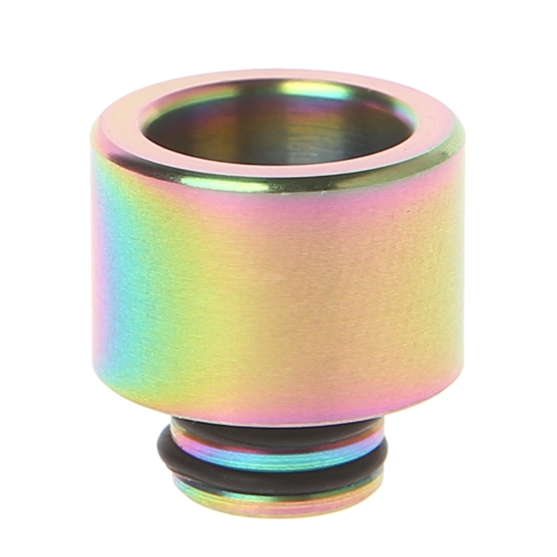 510 Stainless Steel Rainbow Electronic Cigarette Mouthpiece Drip Tip For TFV8