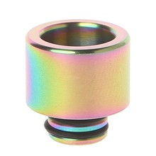 510 Stainless Steel Rainbow Electronic Cigarette Mouthpiece Drip Tip For TFV8(China)