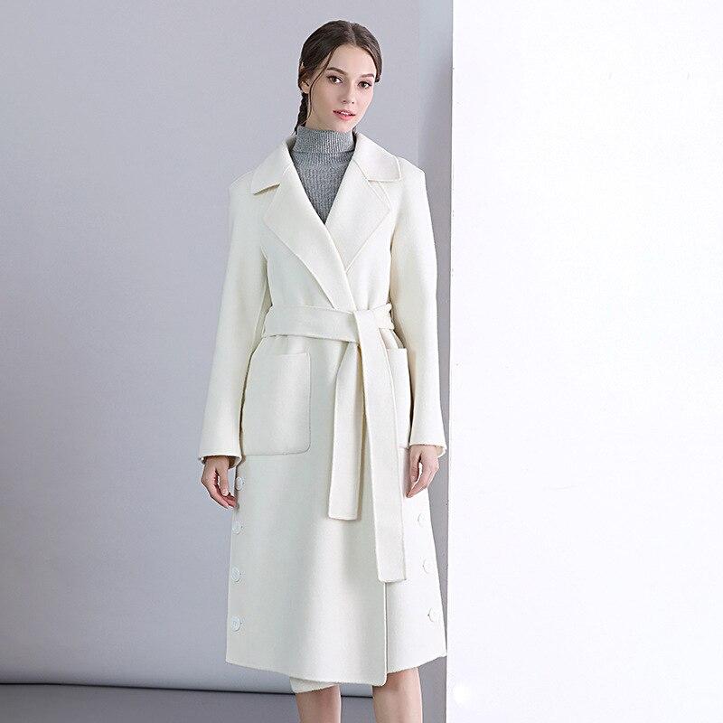 prix compétitif 1dfb8 a1d29 Veste Haute Femmes Chaud Style Pardessus Long Manteau Blanc ...