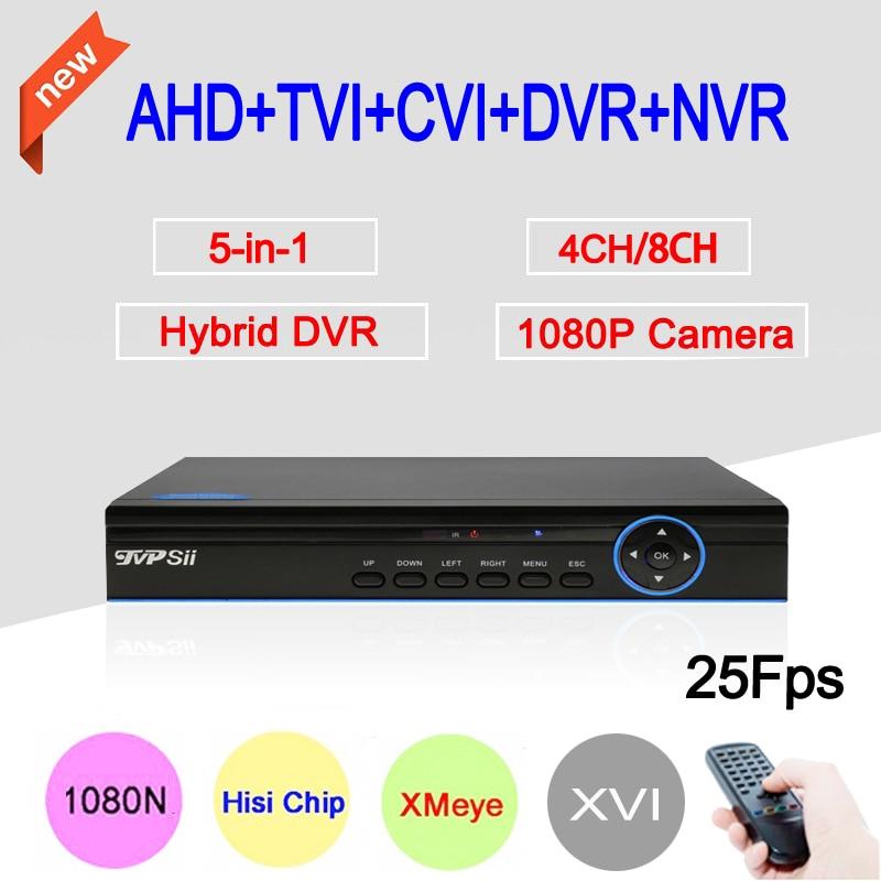 1080P Surveillance Camera Hi3521A Blue Ray 1080N 25fps 4CH/8CH Coaxial Hybrid 6 in 1 XVI NVR CVI TVI AHD CCTV DVR Free Shipping gadinan 8ch ahdnh 1080n dvr analog ip ahd tvi cvi 5 in 1 dvr 4ch analog 1080p support 8 channel ahd 1080n 4ch 1080p playback