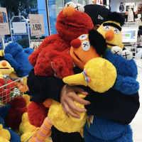 5 stil Große Größe Sesame Street Plüsch Puppe Spielzeug Sesame Street Elmo Ernie Bert Figuren Weiche Plüsch Geburtstag Geschenk Spielzeug freies Verschiffen