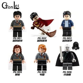 6PCS PG8019 Fantasy Literature Harry Potter Building Block kids Toys Compatible with Lepin скуби ду лего