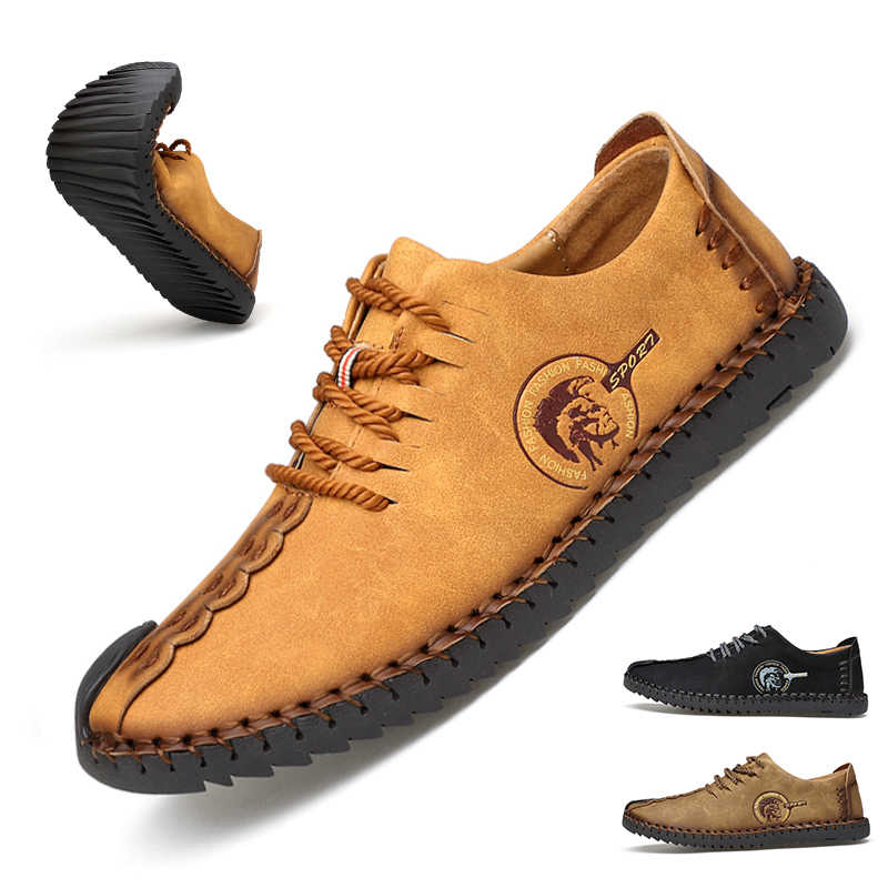 1bd2e53ed Summer Casual Lace Up Shoes Men Leather Walking Boat Shoe Loafers Moccasins  Flats Shoes Men Luxury