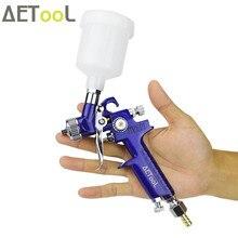 AETool 0.8 مللي متر/1.0 مللي متر فوهة H 2000 المهنية HVLP رذاذ بندقية صغيرة الهواء الطلاء رذاذ البنادق البخاخة للرسم سيارة ايروغراف